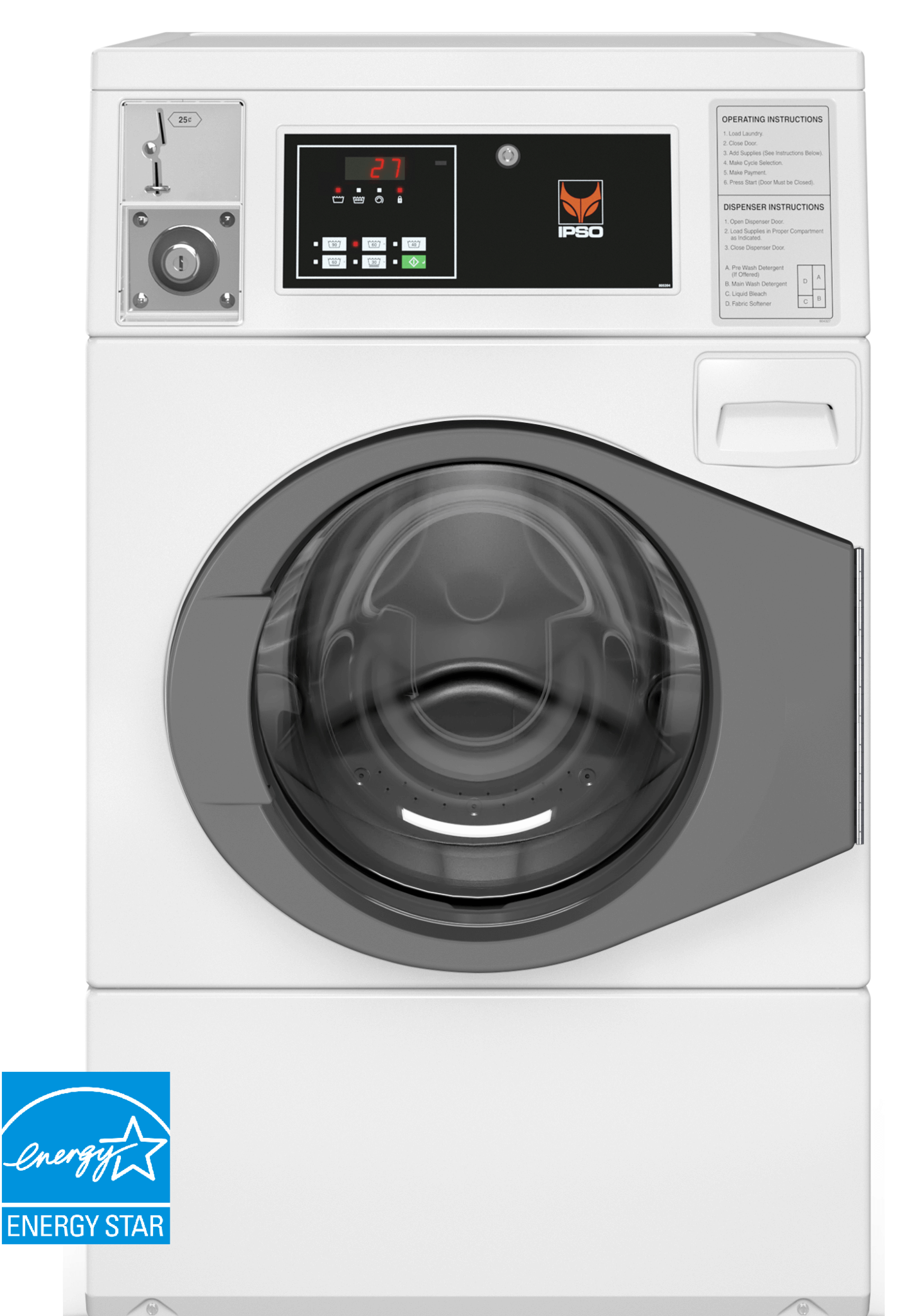 Front Load Washer 22LB Softmount